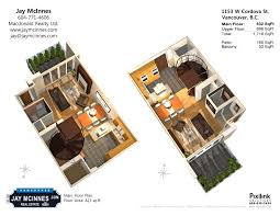 3d Floor Plan by 1153 W Cordova Street Two Harbour Green Luxury Townhouse 3d Floor