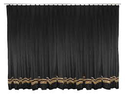 home theater curtains amazon com saaria black pinch pleated velvet curtain home decor