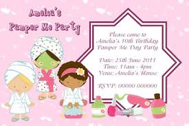 pamper party invitations pamper party invitations perfected with