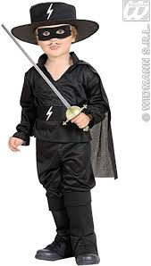 black bandit hero accessory for zorro fancy dress character
