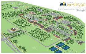 Map Of Nc State by Campus Map U0026 Tour North Carolina Wesleyan College