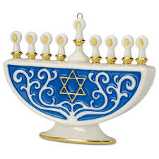 the festival of lights menorah porcelain ornament keepsake