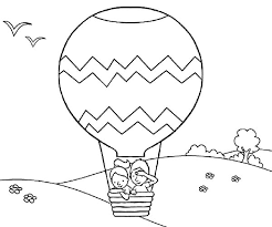 balloon coloring pages air balloon coloring pages for children coloringstar