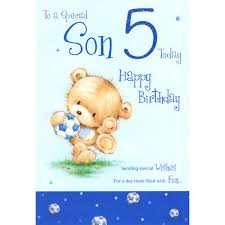 son 5th birthday greeting card male greeting cards