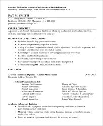 Sample Resume Maintenance Technician by Mechanic Resume Automotive Technician Resume Examples Creative