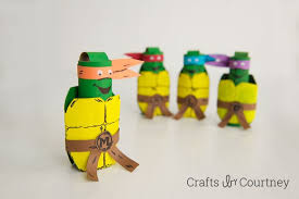 tmnt wrapping paper kids craft tmnt toilet paper roll finger puppets