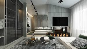 home interior design combining with cool wall texture and soft