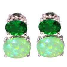 green earrings green opal earrings ebay