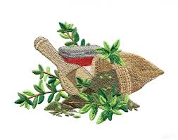 herb collection embroidery design
