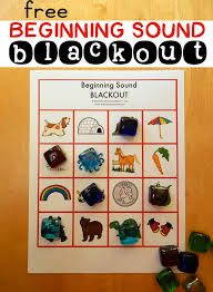review letter sounds with beginning sound blackout 8 free boards