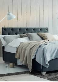 Upholstered Headboard Storage Bed by Upholstered Beds Buttoned Headboard Storage Bed In Stain