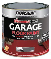 Garage Floor Paint Reviews Uk by Ronseal Dhgfpsl5l Diamond Hard Garage Floor Paint Slate 5 Litre