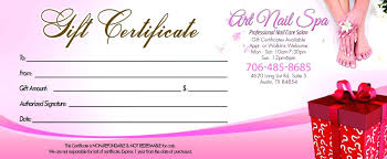nail salon gift cards template salon gift certificate template