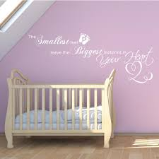 Bedroom Wall Stickers Sayings Baby Footprints Love Heart Children U0027s Bedroom Wall Art Sticker