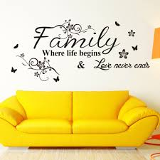 Home Decoration Stickers by Popular Wall Stickers Family Quotes Buy Cheap Wall Stickers Family