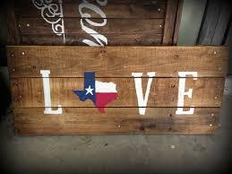 texas flag love pallet sign texas rustic home decor pallet decor