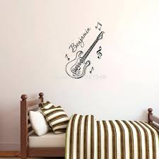 Music Note Decor Wall Decor Compact Personalized Boys Name Guitar Wall Decor