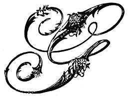 g ornamental script clipart etc
