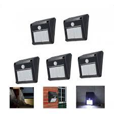 Security Sensor Lights Outdoor 5pcs 12 Led Solar Powered Pir Motion Sensor Light Outdoor Garden