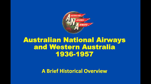 West Australia Flag The Story Of Australian National Airways Youtube