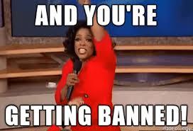 Hurt Feelings Meme - you are banned meme on imgur