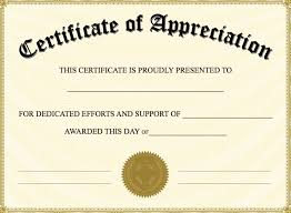 free certificate of appreciation template for word certificate of