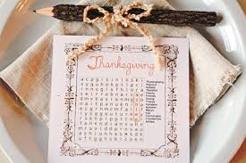 thanksgiving word search thanksgiving place cards to diy this holiday reader u0027s digest