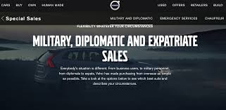build your own volvo volvo u2013 diplomatic u0026 military sales u2013 customer service roi