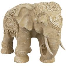 oriental furniture 20 in rustic jeweled elephant decorative