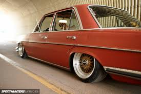 lowered mercedes w123 what were you thinking a vintage benz adventure speedhunters