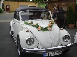 hochzeitsdekoration auto vw käfer cabrio zu vermieten für hochzeiten und alles andere