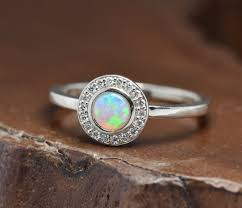turquoise opal engagement rings opal halo engagement ring u2013 point no point studio