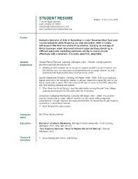 100 sample resume for a college student with no experience