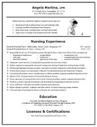 Resume Template For Nursing Assistant Examples Of Nursing Resumes Certified Nursing Assistant