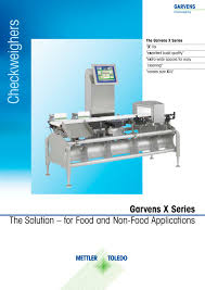x series checkweighers mettler toledo product inspection pdf