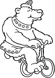 circus bear in front of circus tent coloring pages circus bear in
