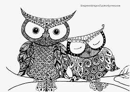 free detailed coloring pages for adults free owl coloring pages for adults archives coloring page