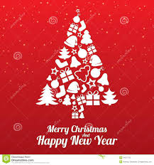 merry happy new year card lights decoration