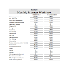 Monthly Expense Sheet Template List Of Expenses Property And Unit List For Rental Property P L
