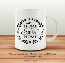 coffee cup silhouette png home sweet home svg file cutting file clipart in svg eps dxf