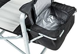 portable makeup chair with side table amazon com kingc heavy duty steel folding chair director s