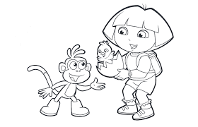 dora easter free coloring pages art coloring pages