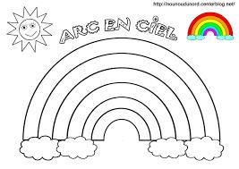 Arc en ciel coloriage gommettes couleur