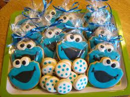 cookie monster cookie favors by cookiecheers on etsy 21 00
