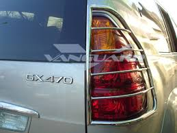 lexus gx470 land cruiser tail light guard cover s s or blk auto beauty vanguard