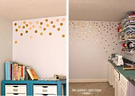 diy gold polka dot wall the homes i have made
