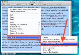 How To Count Words In Textedit In Mac Os X A Word Character Counting Service For All Apps In Mac Os X