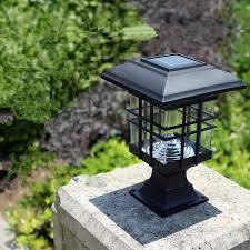 low voltage led column lights new arrival solar pillar l outdoor super bright led solar pillar