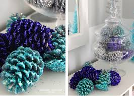 glittered pinecones the homes i have made