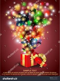 open magic gift box surprise eps10 stock vector 101525830